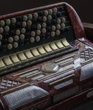 Винтажные ключи аккордеона стоковая фотография
