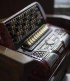 Винтажные ключи аккордеона стоковое изображение rf