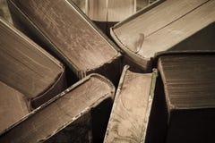 Винтажные книги закрывают вверх Стоковое Изображение RF