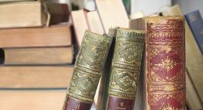 Винтажные книги закрывают вверх Стоковая Фотография RF