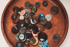 Винтажные кнопки Стоковые Фотографии RF