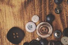 Винтажные кнопки Стоковая Фотография