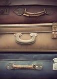 Винтажные кожаные чемоданы Стоковая Фотография