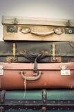 Винтажные кожаные чемоданы Стоковые Фото