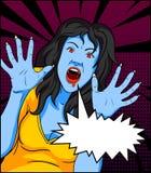 Винтажные комиксы вампира иллюстрация вектора