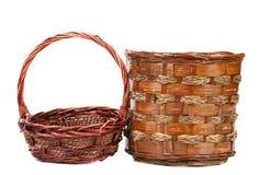 Винтажные корзины wicker weave Стоковые Фотографии RF