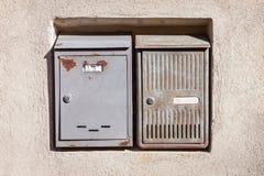 Винтажные коробки почты металла Стоковое Изображение RF