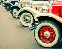 Винтажные колеса автомобилей Стоковое Изображение RF