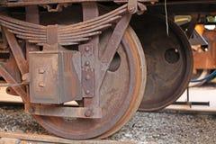 Винтажные колеса поезда пара Стоковые Изображения RF