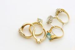 Винтажные кольца золота с космосом экземпляра Стоковое фото RF