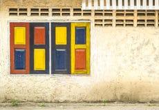 Винтажные красочные окна. Стоковые Фотографии RF