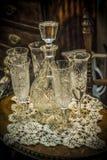 Винтажные кристаллические стекла Стоковые Фотографии RF