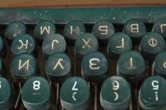 Винтажные ключи машинки, письма Стоковая Фотография RF