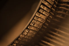 Винтажные ключи машинки Стоковые Изображения RF