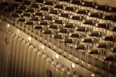 Винтажные ключи рояля стоковое изображение rf