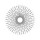 Винтажные лучи солнца конспекта sunburst вектора Иллюстрация нарисованная шайкой бандитов на белой предпосылке иллюстрация вектора