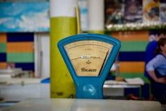 Винтажные масштабы еды в русском рынке Стоковое Изображение RF