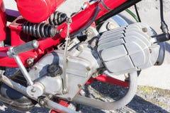 Винтажные машинные части мотоцикла Стоковая Фотография