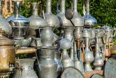 Винтажные металлические аравийские сосуды и стручки Стоковое Изображение RF