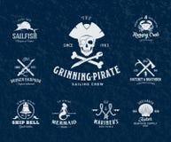 Винтажные морские ярлыки или элементы дизайна с Стоковое Фото