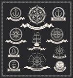 Винтажные морские ярлыки Стоковые Изображения RF