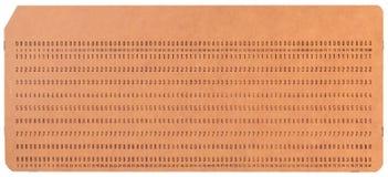 Винтажные неиспользованные перфорационные карты компьютера Стоковые Изображения RF