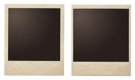 Винтажные немедленные рамки поляроида фото стоковые изображения