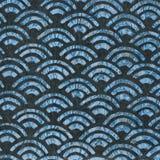 Винтажные обои - голубые вентиляторы Стоковое Фото