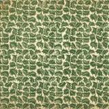 Винтажные обои с листьями Стоковая Фотография