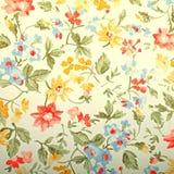 Винтажные обои provance с цветочным узором Стоковое Изображение