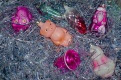 Винтажные орнаменты рождества Стоковое Изображение