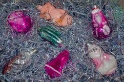 Винтажные орнаменты рождества Стоковые Изображения RF