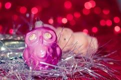 Винтажные орнаменты рождества Стоковое Фото