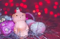 Винтажные орнаменты рождества Стоковое фото RF