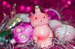 Винтажные орнаменты рождества Стоковая Фотография RF