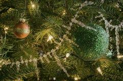 Винтажные орнаменты рождественской елки Стоковое Фото