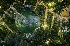 Винтажные орнаменты рождественской елки Стоковые Фото