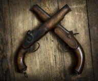 Винтажные пистолеты Стоковое Изображение