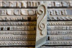 Винтажные письма, вопросительный знак стоковое изображение