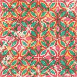 Винтажные плитки с геометрическим орнаментом Стоковые Фотографии RF