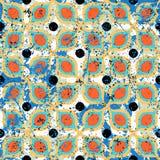 Винтажные плитки с геометрическим орнаментом Стоковое Изображение RF