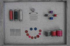 Винтажные потоки и кнопки Стоковое Изображение RF