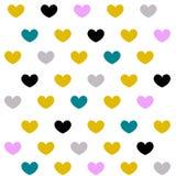 Винтажные предпосылки сердец Стоковая Фотография RF