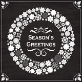 Винтажные приветствия сезона стиля на доске Стоковые Фотографии RF