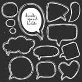 Винтажные пузыри речи doodle Различные размеры и формы Стоковые Изображения RF
