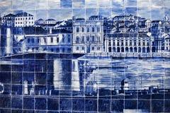 Винтажные плитки от Лиссабона Стоковые Фотографии RF