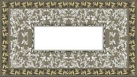 Винтажные рамка с классическим флористическим орнаментом и декоративный Стоковое Изображение