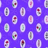 Винтажные рамки, безшовный цветочный узор также вектор иллюстрации притяжки corel Стоковые Изображения