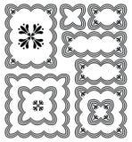 Винтажные рамки и декоративные элементы Стоковое Изображение