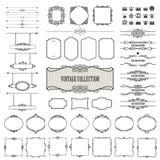 Винтажные рамки, рассекатели, комплект шильдиков мега Стоковые Изображения RF